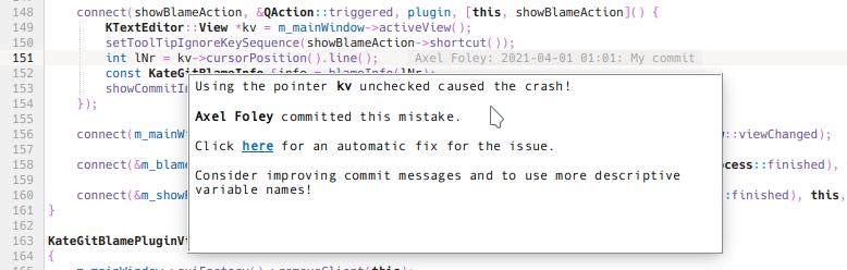 Automatic crash fix