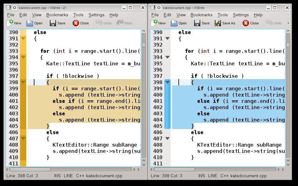 Kate Code folding