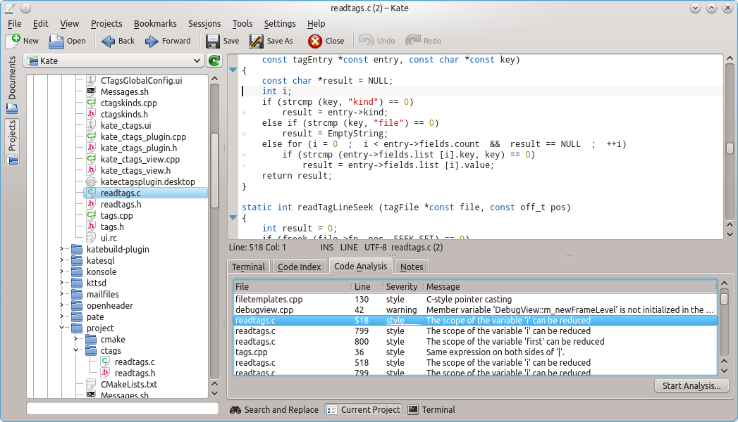 Kate Project Plugin News � Code Analysis | Kate | Get an Edge in ...