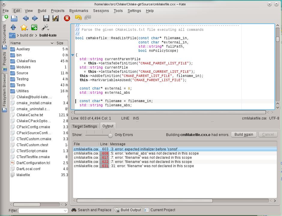 Build plugin: jump to error works