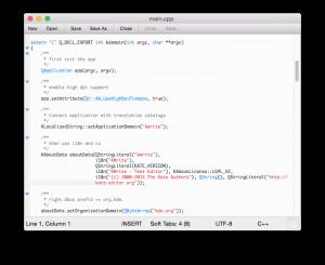 KWrite on Mac